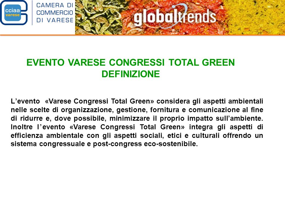 EVENTO VARESE CONGRESSI TOTAL GREEN