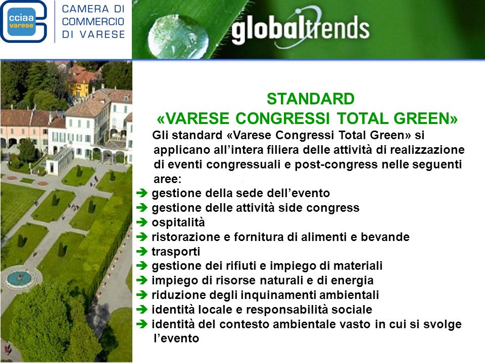 «VARESE CONGRESSI TOTAL GREEN»