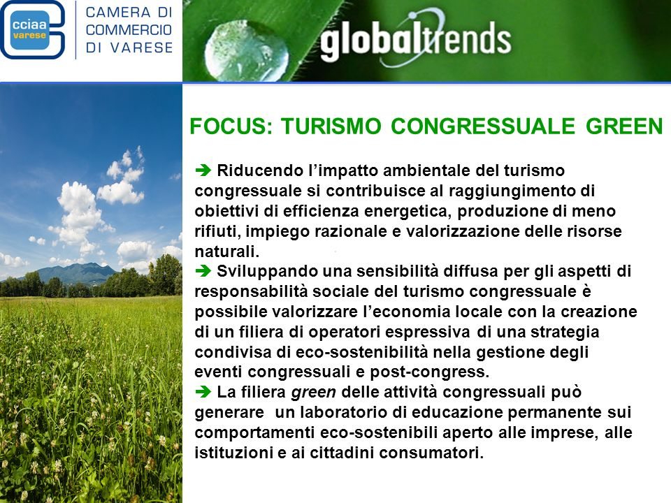 FOCUS: TURISMO CONGRESSUALE GREEN