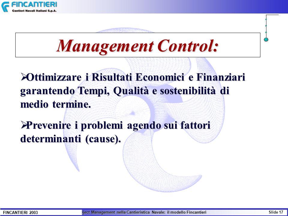 Management Control: Ottimizzare i Risultati Economici e Finanziari garantendo Tempi, Qualità e sostenibilità di medio termine.
