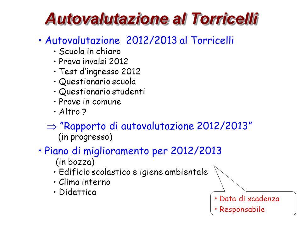 Autovalutazione al Torricelli