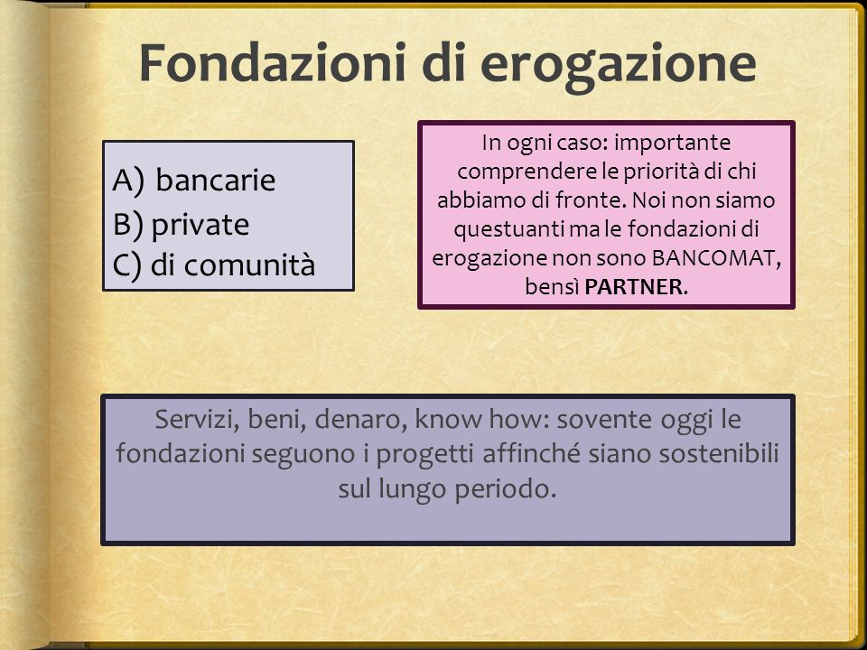 Fondazioni di erogazione