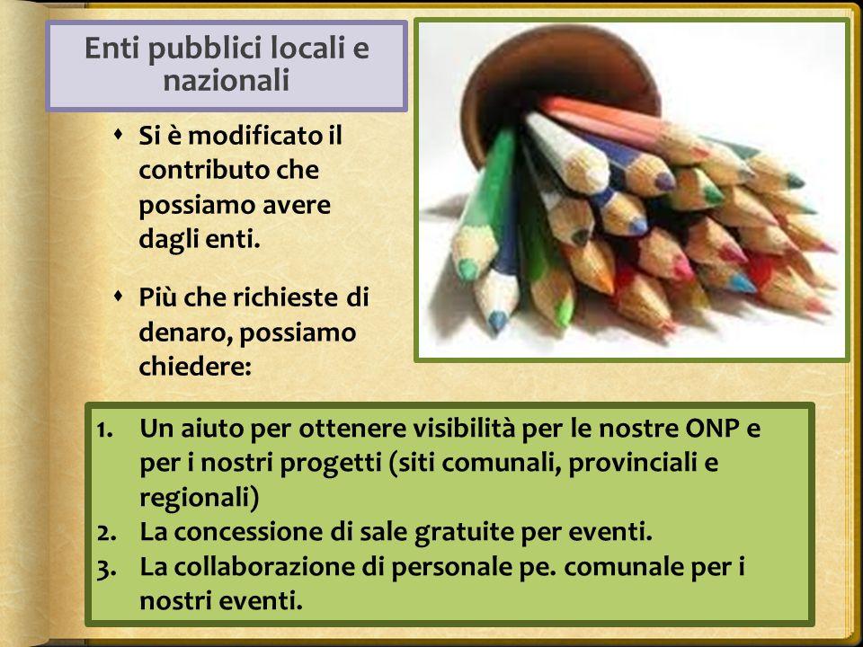 Enti pubblici locali e nazionali
