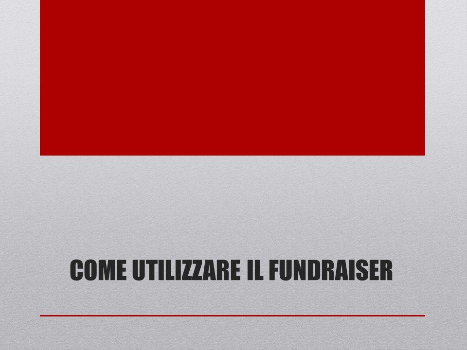 Come utilizzare il fundraiser