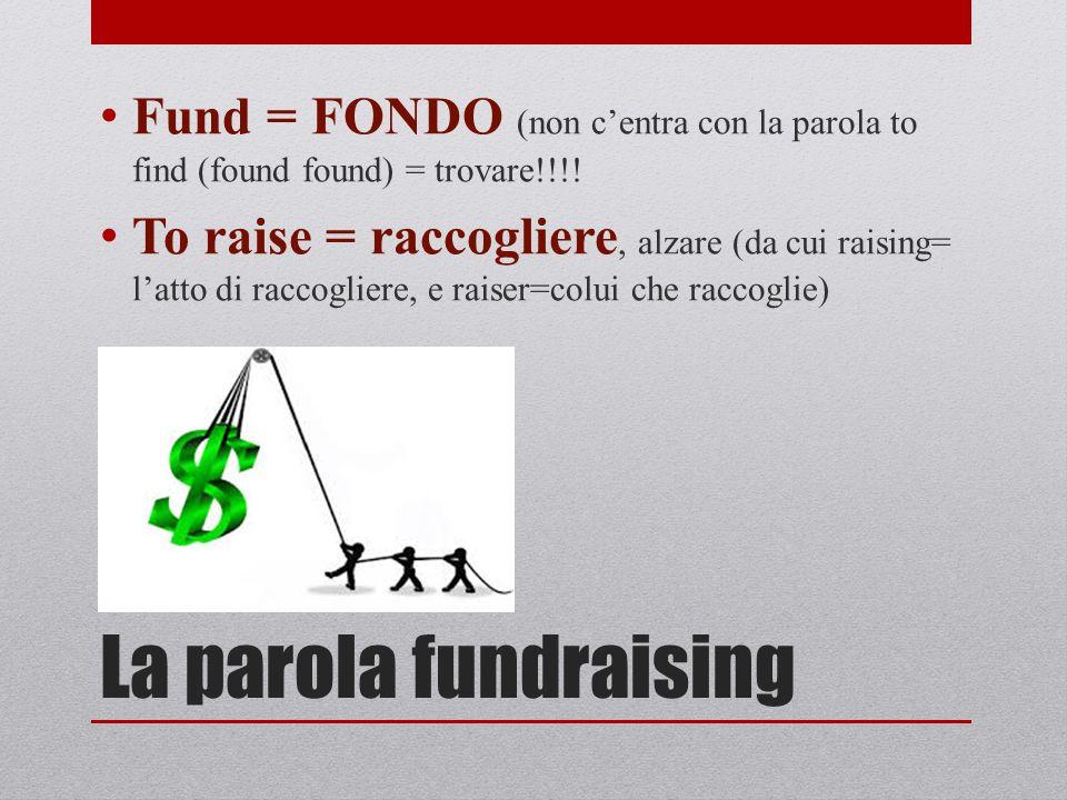 Fund = FONDO (non c'entra con la parola to find (found found) = trovare!!!!