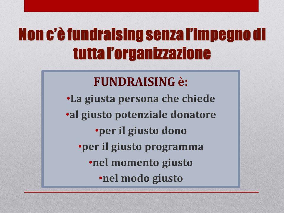 Non c'è fundraising senza l'impegno di tutta l'organizzazione