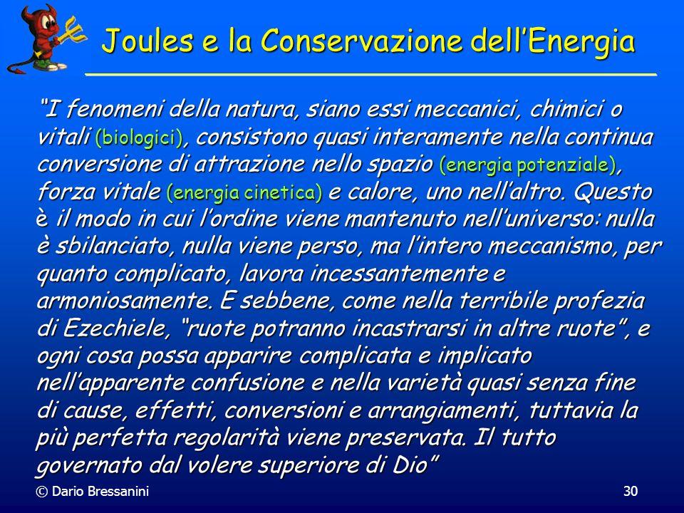 Joules e la Conservazione dell'Energia