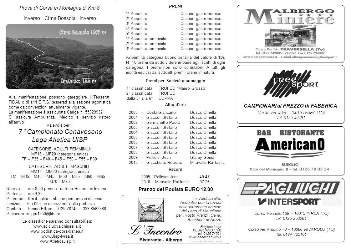 7° Campionato Canavesano Lega Atletica UISP