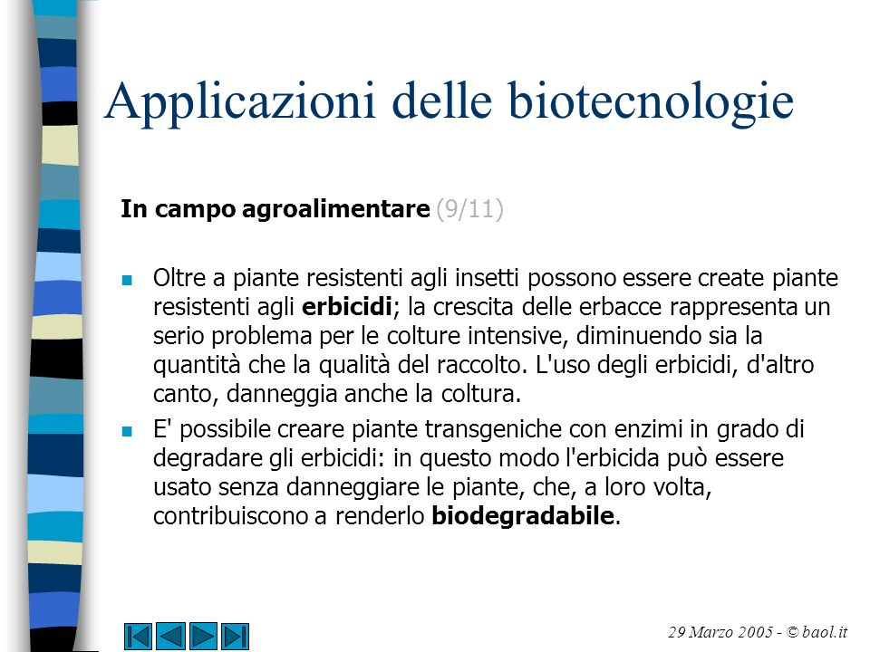 Applicazioni delle biotecnologie