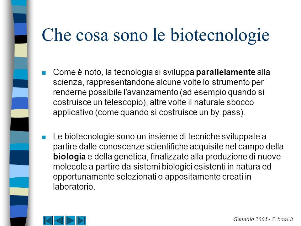 Che cosa sono le biotecnologie
