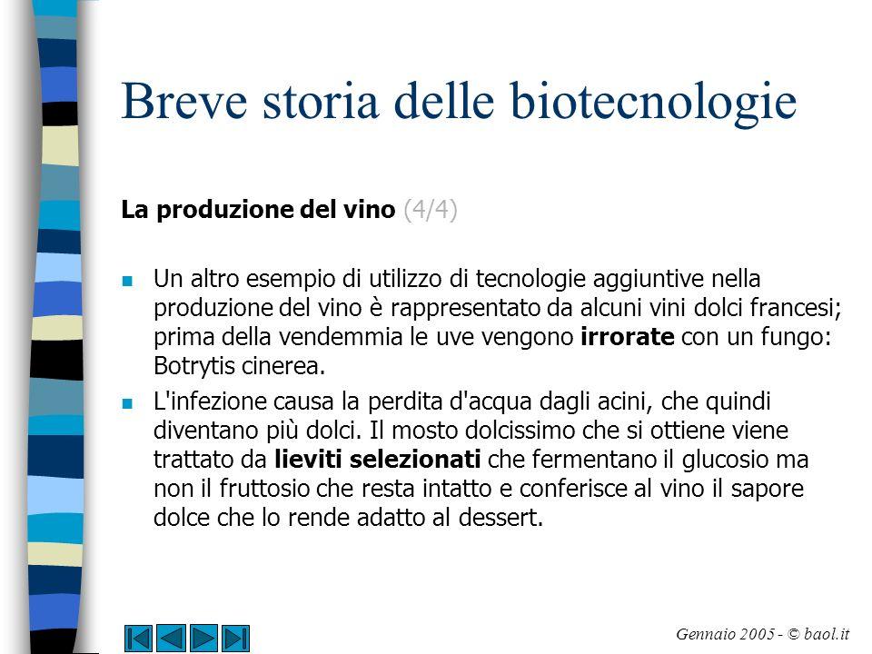 Breve storia delle biotecnologie