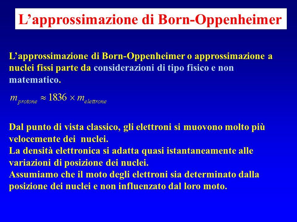 L'approssimazione di Born-Oppenheimer