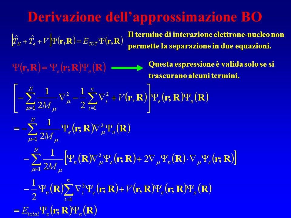 Derivazione dell'approssimazione BO