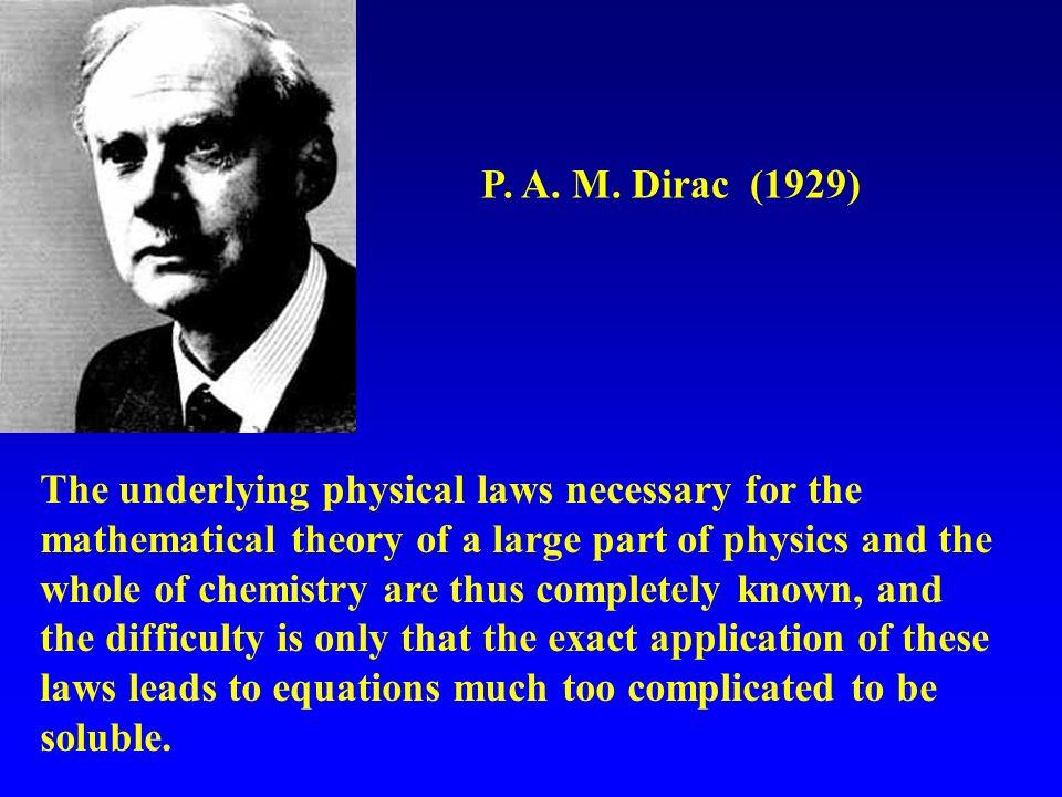 P. A. M. Dirac (1929)