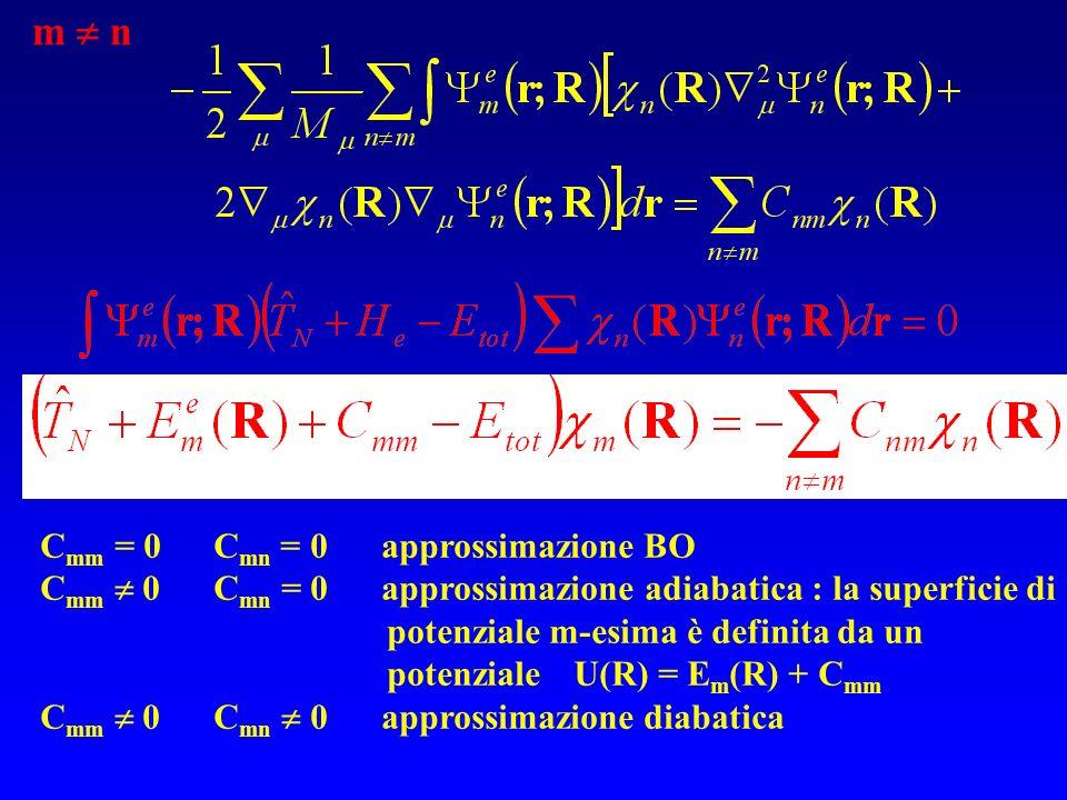 m  n Cmm = 0 Cmn = 0 approssimazione BO
