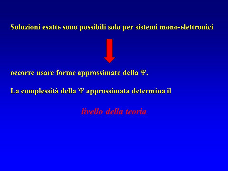 Soluzioni esatte sono possibili solo per sistemi mono-elettronici