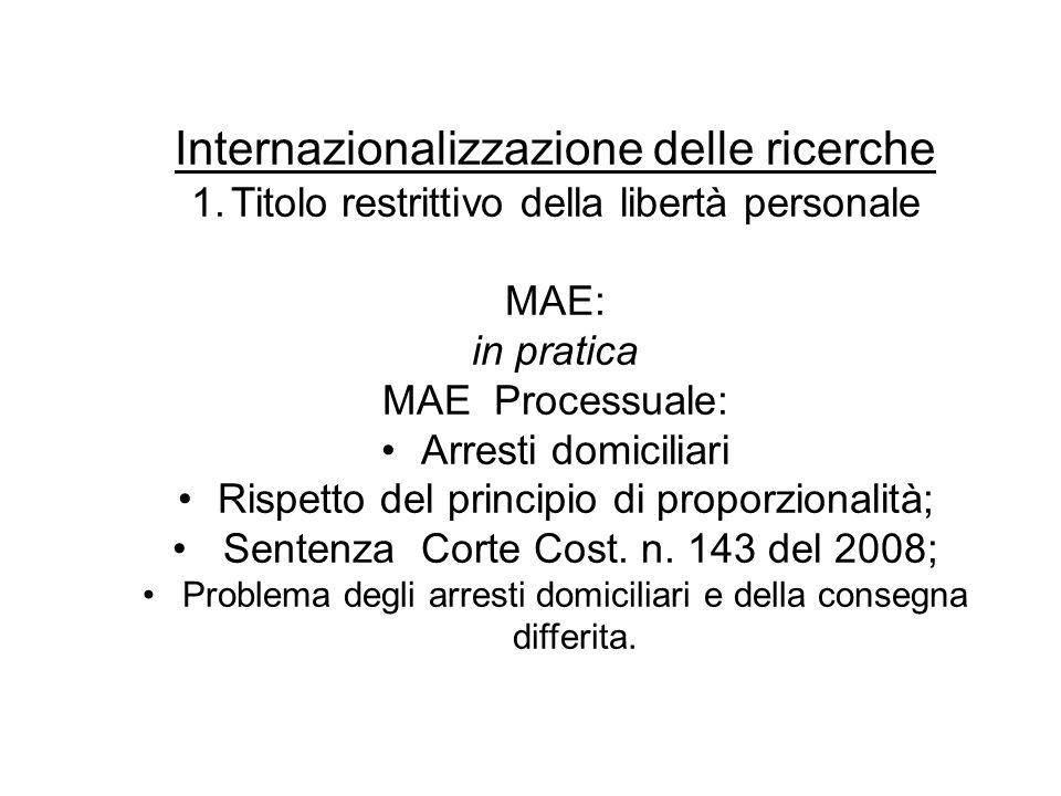 Internazionalizzazione delle ricerche