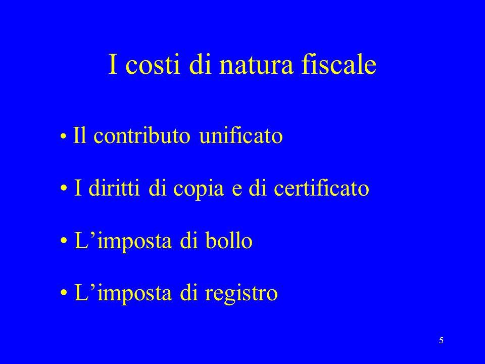 I costi di natura fiscale