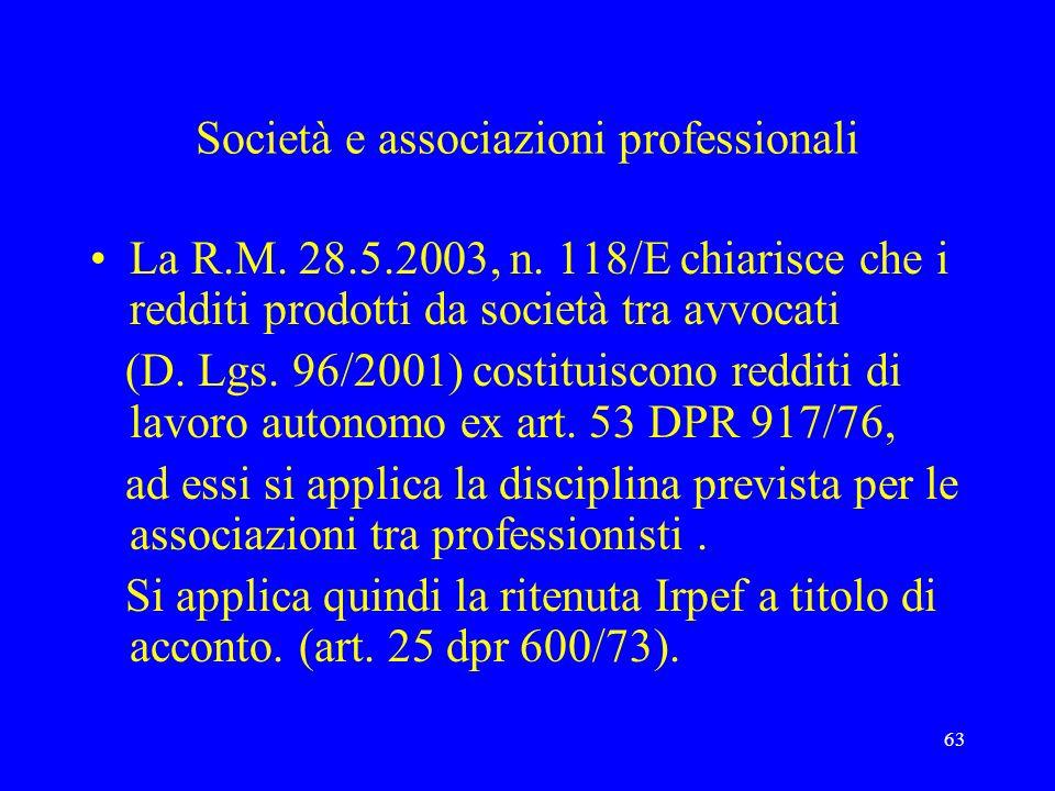 Società e associazioni professionali
