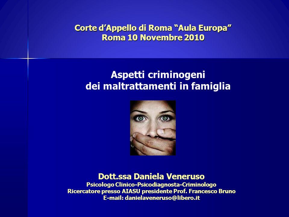Corte d'Appello di Roma Aula Europa Roma 10 Novembre 2010