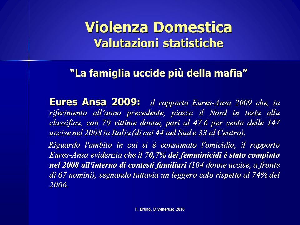 Violenza Domestica Valutazioni statistiche