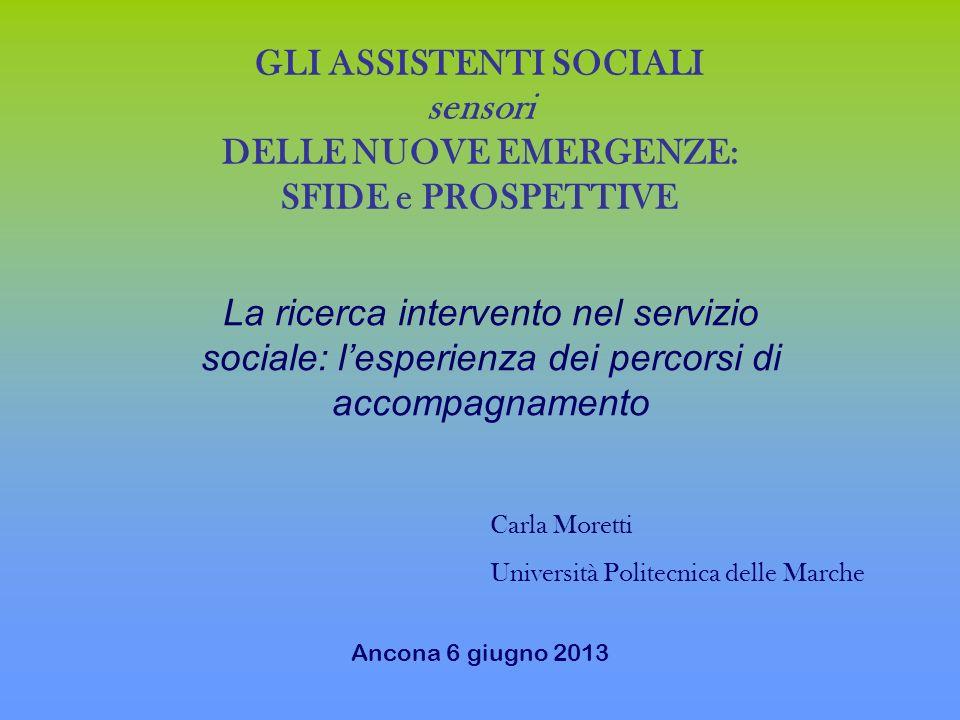 GLI ASSISTENTI SOCIALI sensori DELLE NUOVE EMERGENZE: SFIDE e PROSPETTIVE