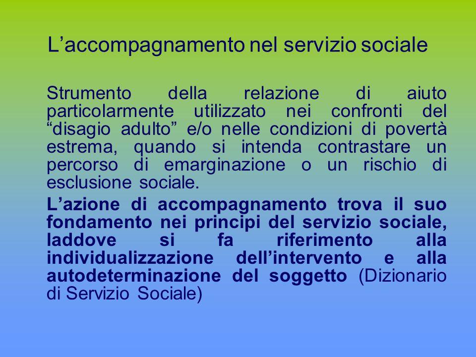 L'accompagnamento nel servizio sociale