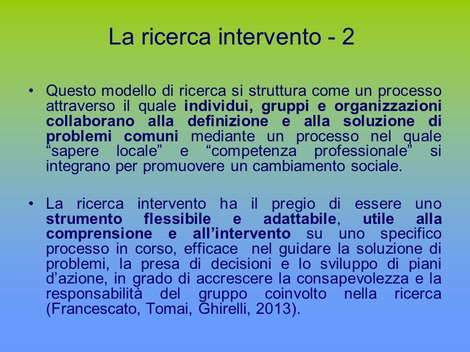 La ricerca intervento - 2