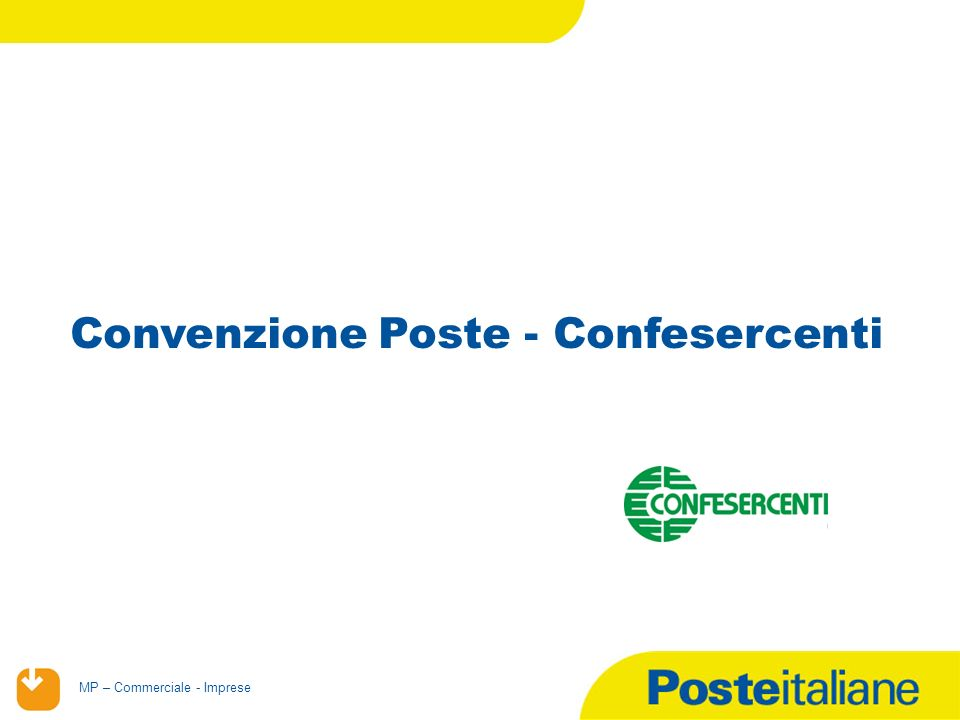 Convenzione Poste - Confesercenti