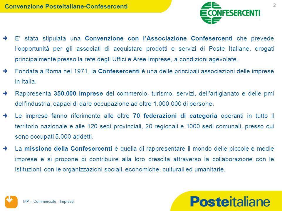 Convenzione PosteItaliane-Confesercenti