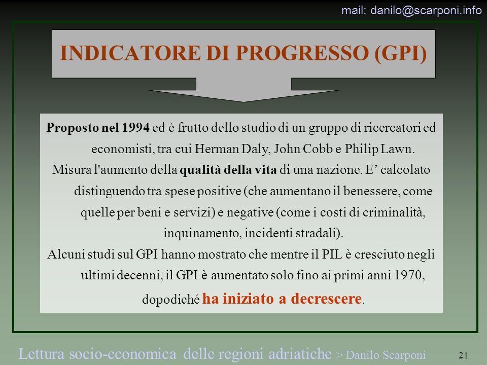 INDICATORE DI PROGRESSO (GPI)