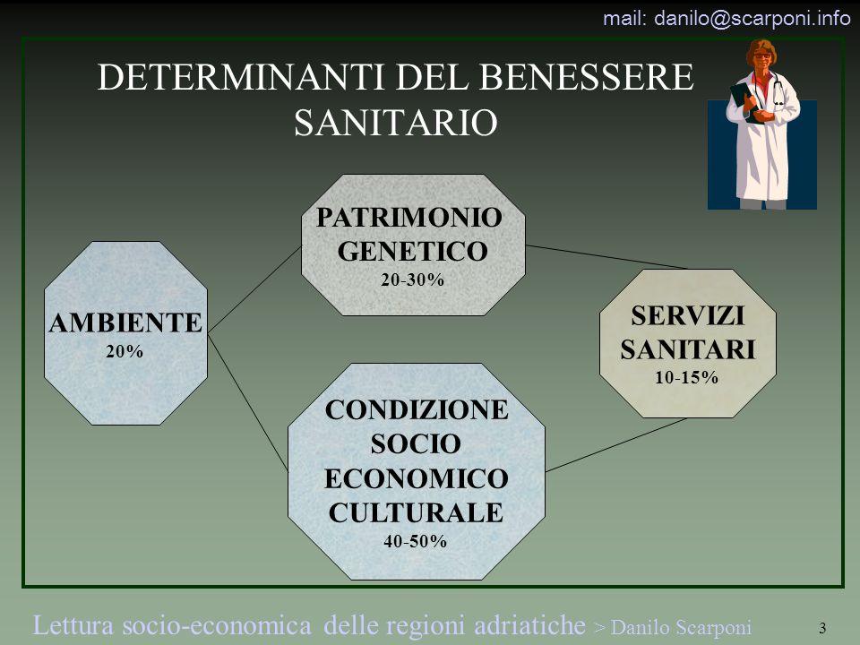 DETERMINANTI DEL BENESSERE SANITARIO