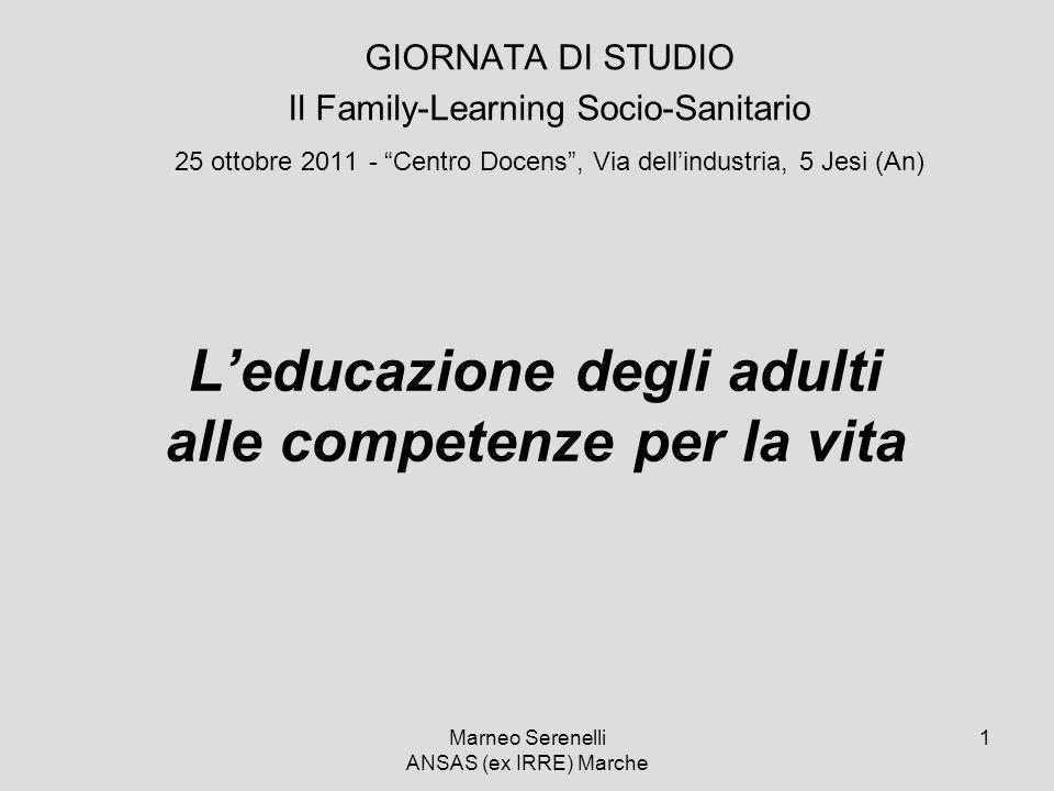 L'educazione degli adulti alle competenze per la vita