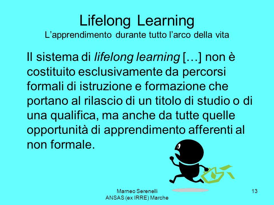 Lifelong Learning L'apprendimento durante tutto l'arco della vita