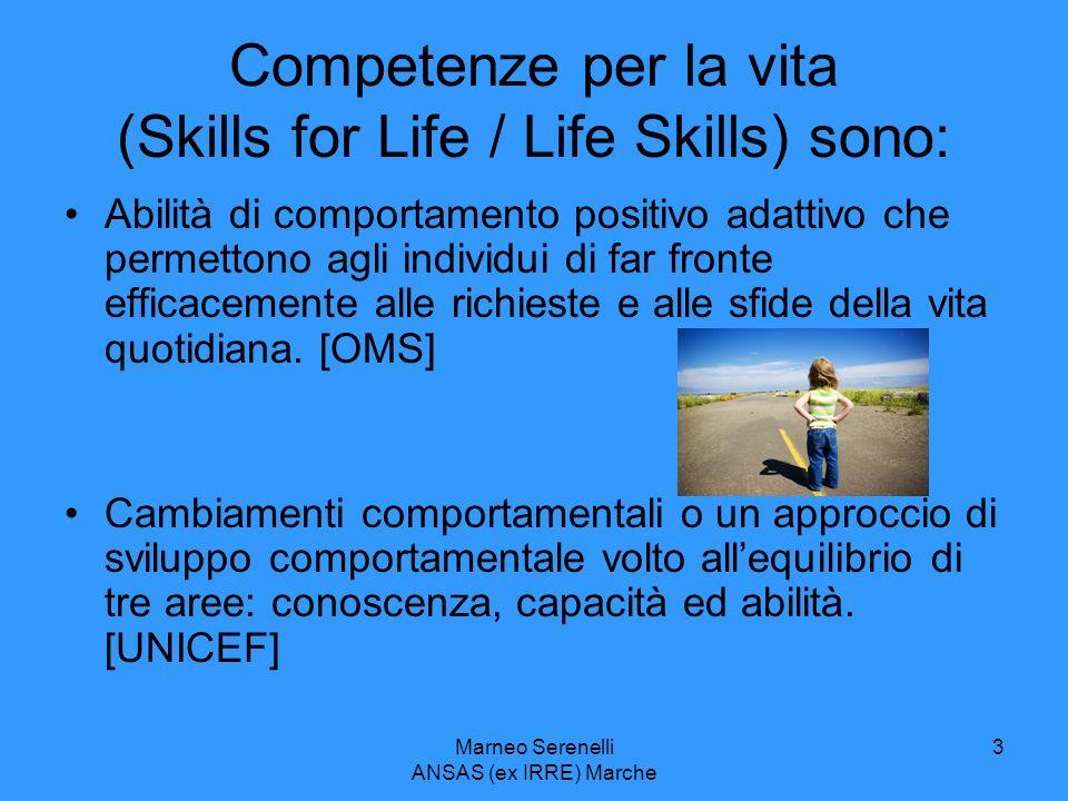 Competenze per la vita (Skills for Life / Life Skills) sono: