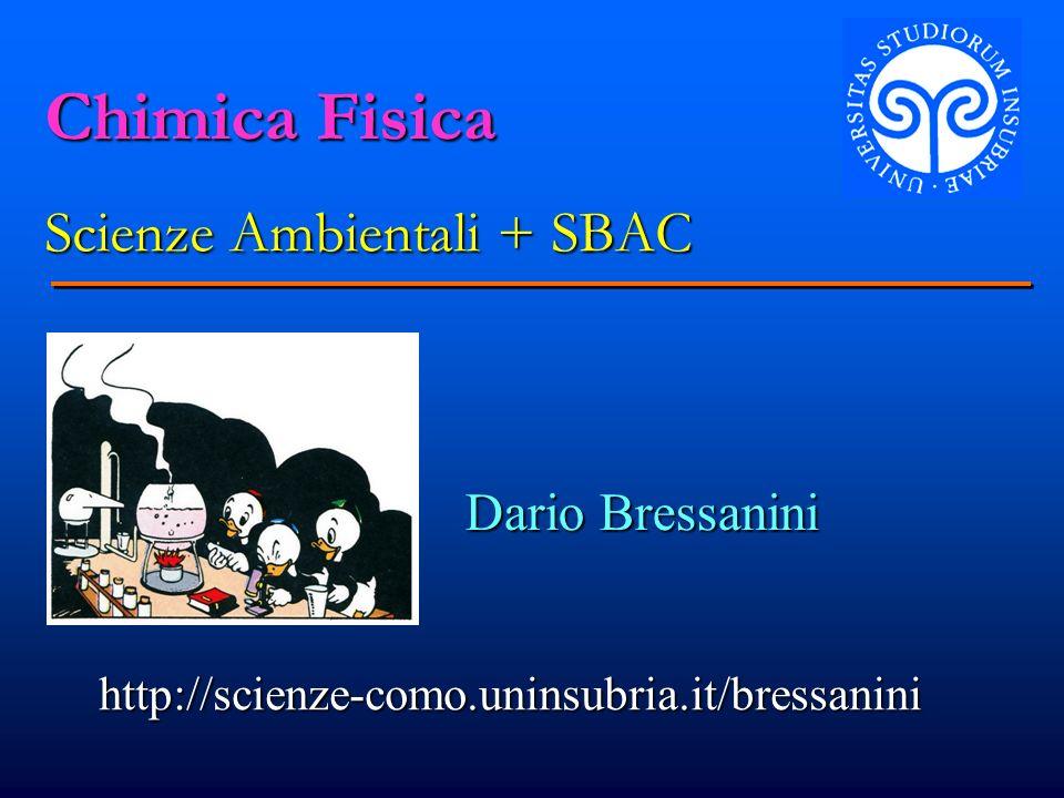 Chimica Fisica Scienze Ambientali + SBAC