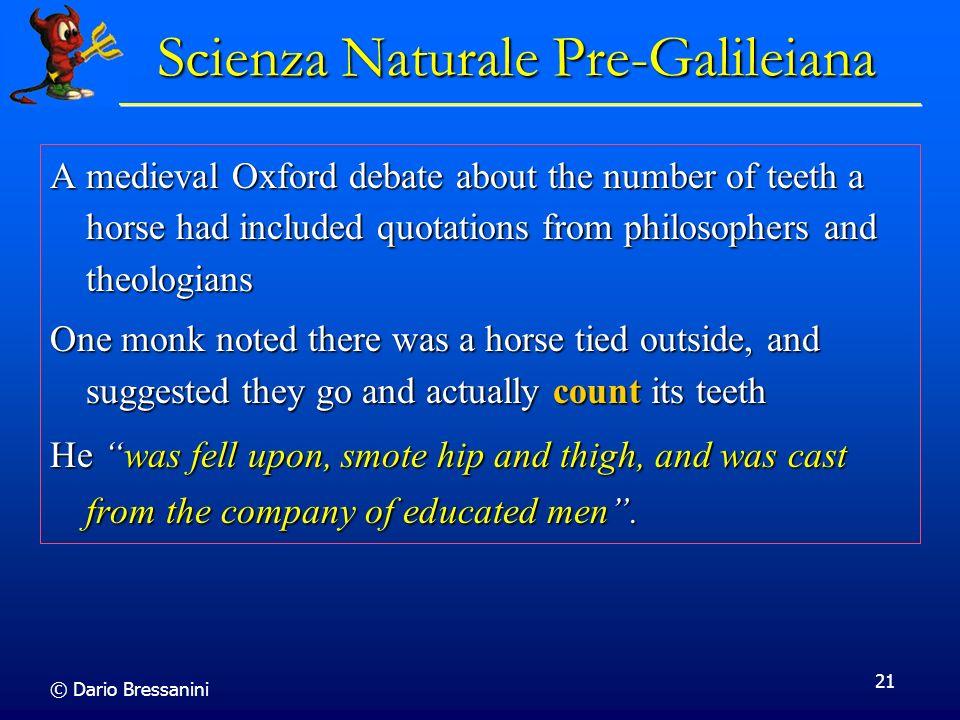 Scienza Naturale Pre-Galileiana