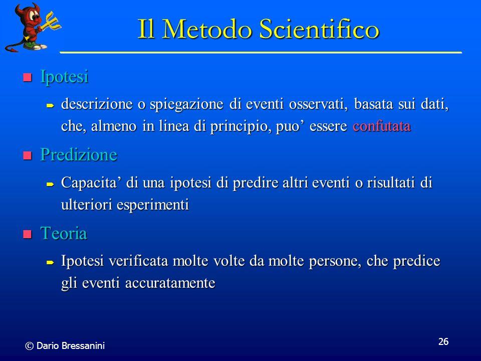 Il Metodo Scientifico Ipotesi Predizione Teoria