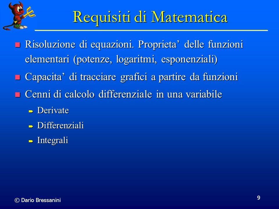 Requisiti di Matematica