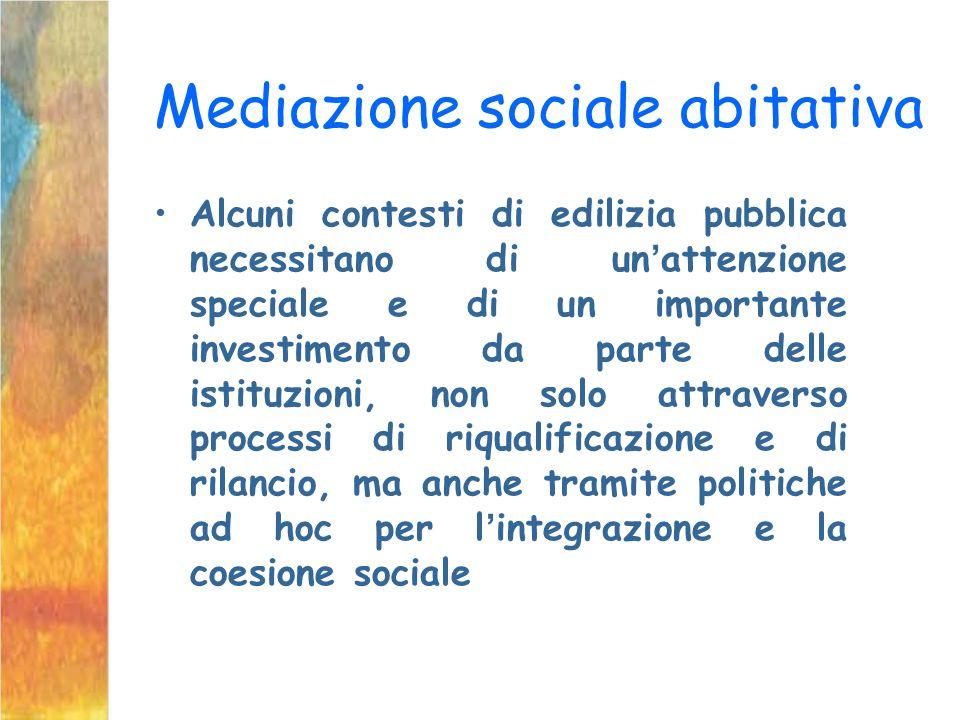 Mediazione sociale abitativa