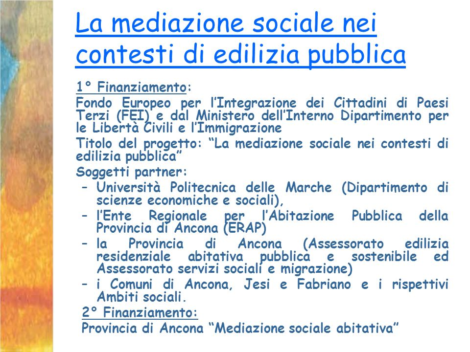 La mediazione sociale nei contesti di edilizia pubblica