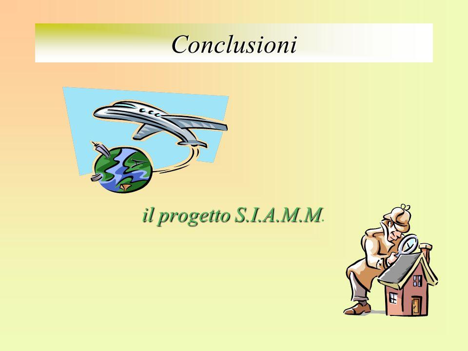Conclusioni il progetto S.I.A.M.M.