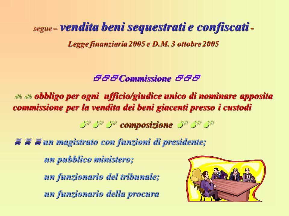Legge finanziaria 2005 e D.M. 3 ottobre 2005