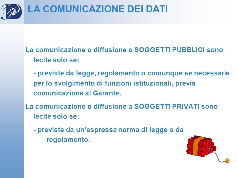 LA COMUNICAZIONE DEI DATI