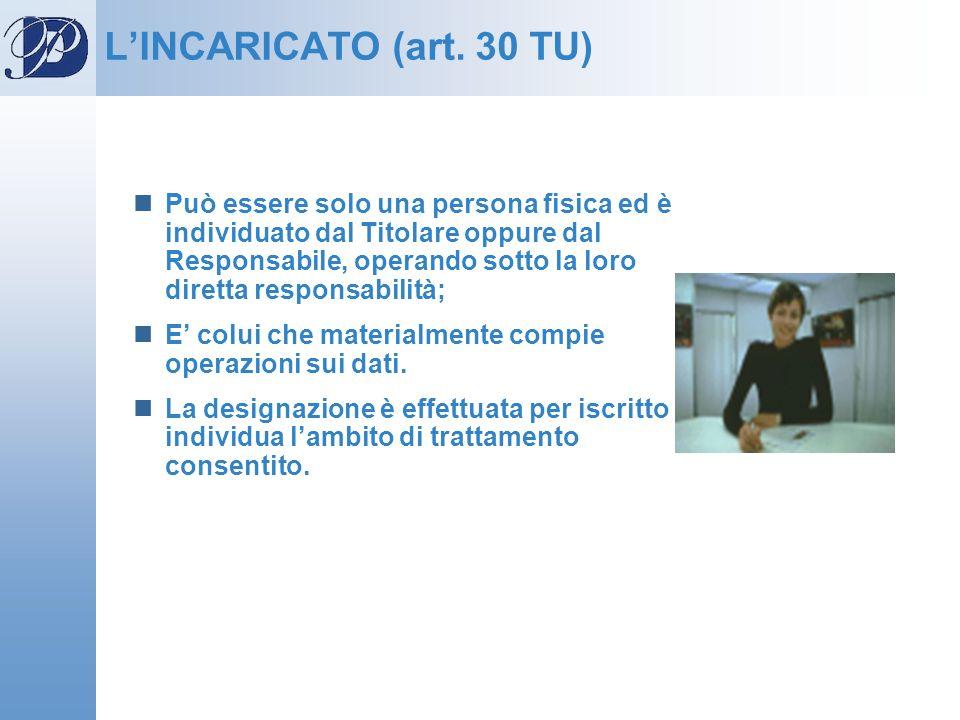 L'INCARICATO (art. 30 TU)