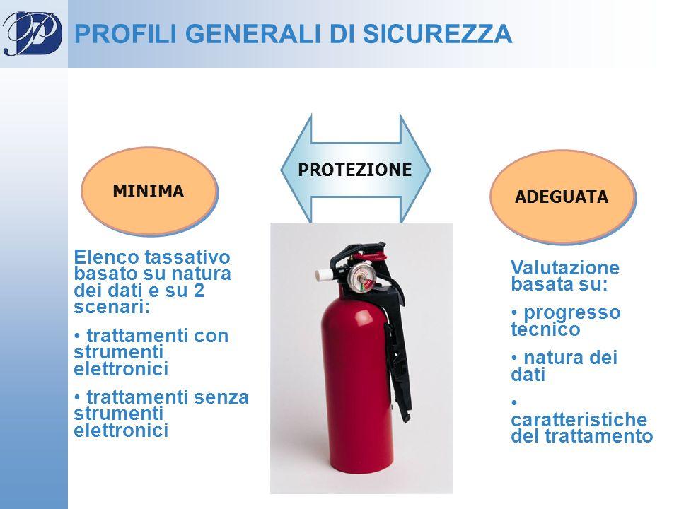 PROFILI GENERALI DI SICUREZZA
