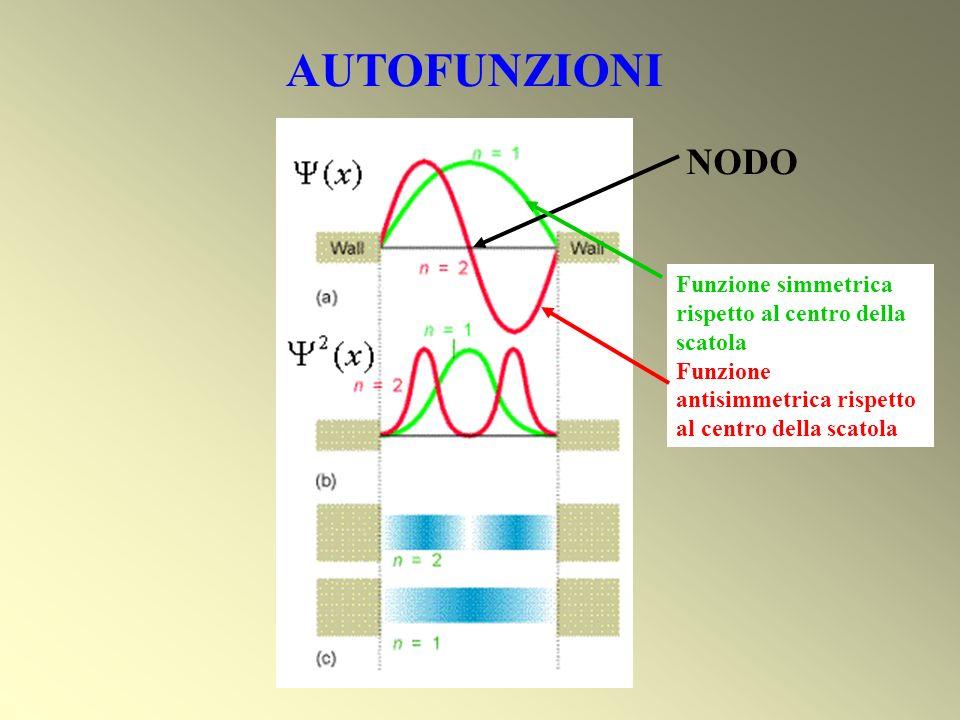 AUTOFUNZIONI NODO Funzione simmetrica rispetto al centro della scatola
