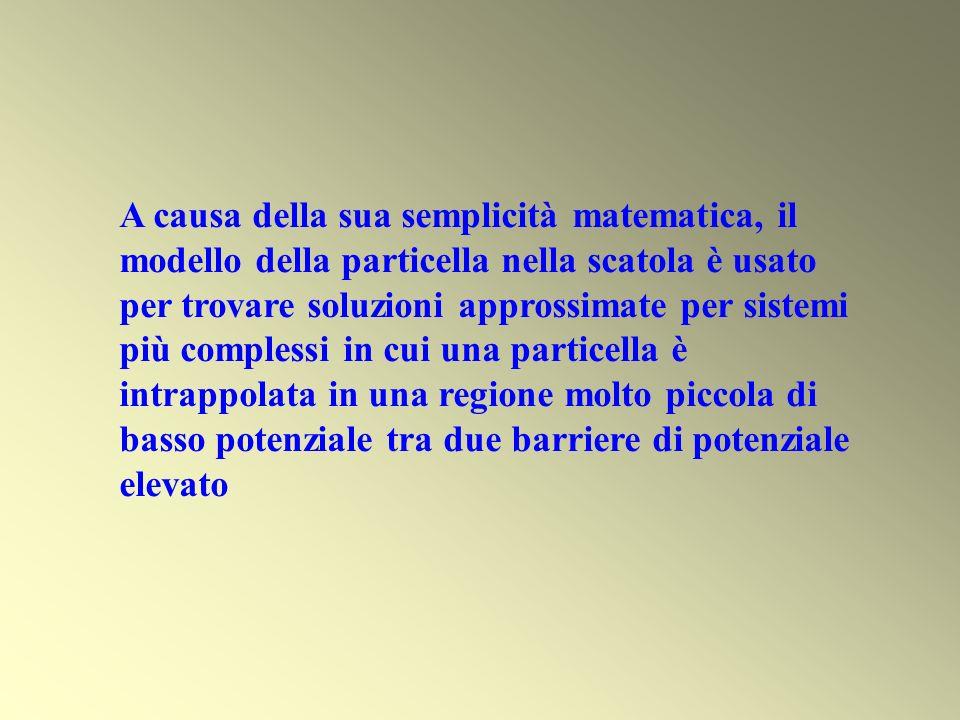 A causa della sua semplicità matematica, il modello della particella nella scatola è usato per trovare soluzioni approssimate per sistemi più complessi in cui una particella è intrappolata in una regione molto piccola di basso potenziale tra due barriere di potenziale elevato