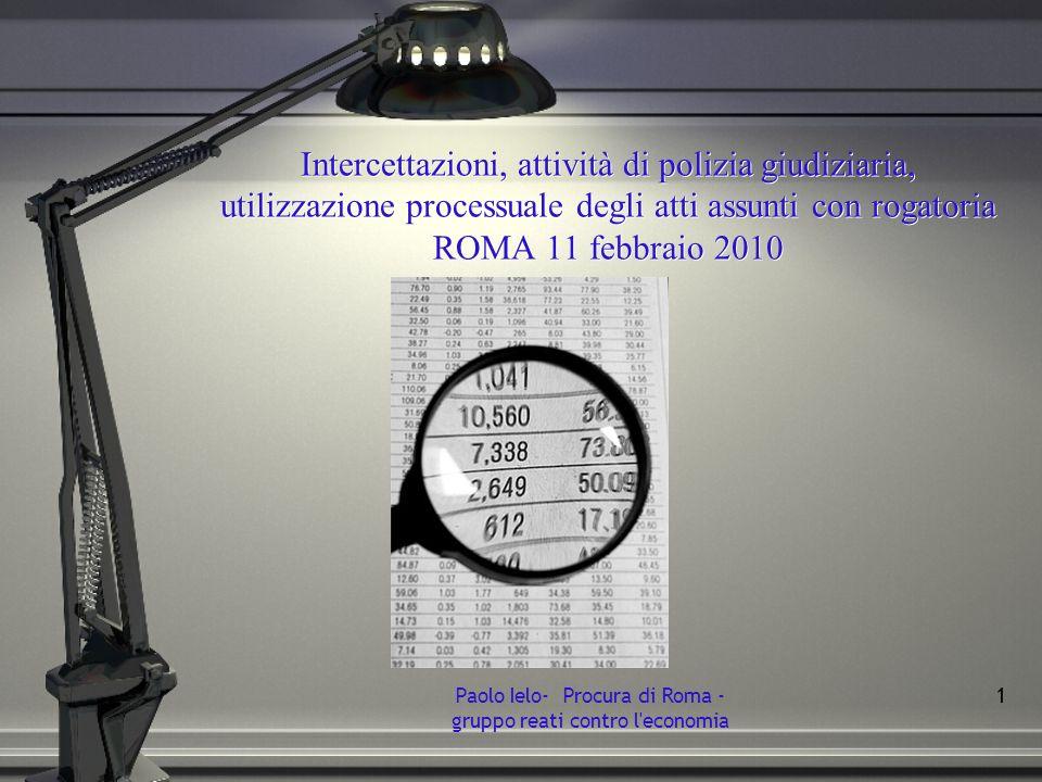 Paolo Ielo- Procura di Roma - gruppo reati contro l economia
