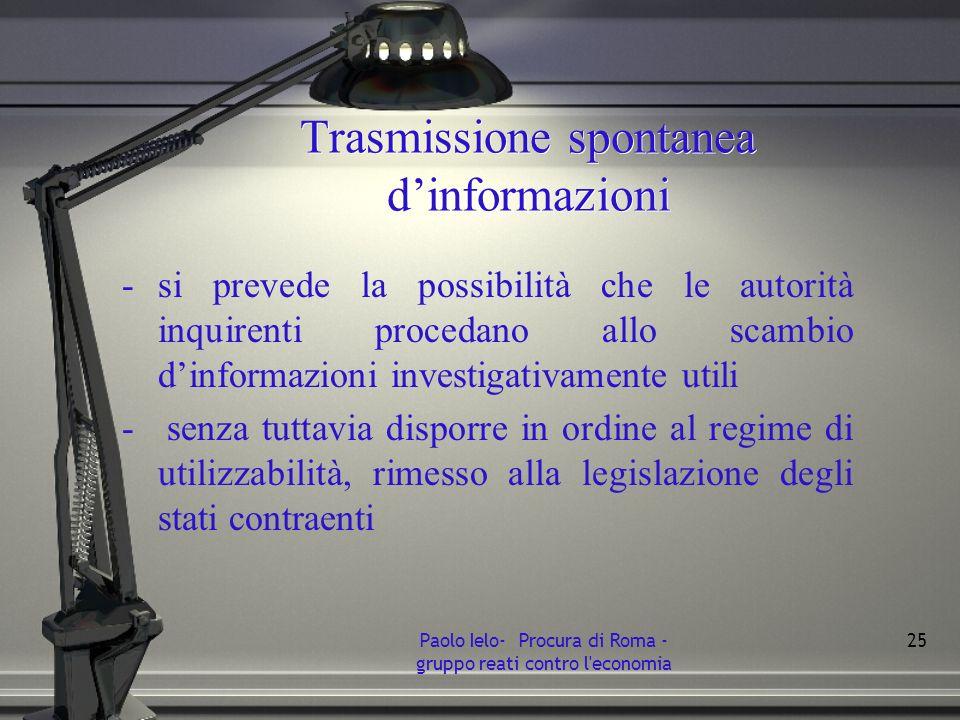 Trasmissione spontanea d'informazioni